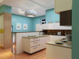 カラーの北アメリカの標準現代食器棚