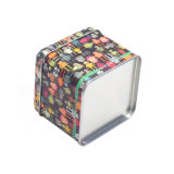 Colorida Plaza impreso de estaño metálico Ver Box