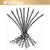 Extrémité simple extension de cheveux synthétiques de 20 pouces dreadlocks à poil bouclé fin