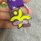 Высокое качество индивидуального металлические мягкой эмали премия медаль с лентой