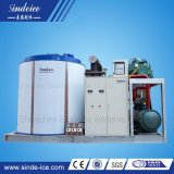 Fabrication refroidi par eau avec des produits frais/eau de mer La Machine à glace paillette