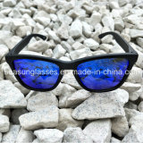 Colorful oem Custom logo Mirror Sunglasses Wholesale oval Lenses 2017