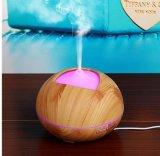 difusor ultra-sônico do petróleo essencial do difusor de madeira do aroma da grão 300ml com o humidificador do ar claro do diodo emissor de luz