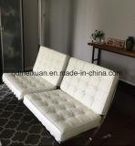 バルセロナのソファーの訪問者の引き締められた現代余暇の革ソファーの椅子1のセット(M-X3590)
