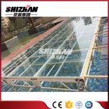 Portátil de aluminio exterior piso etapa acrílico acrílico