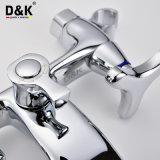 中国の工場高品質の真鍮のクロムによってめっきされる二重ハンドルのシャワーの浴槽の混合弁