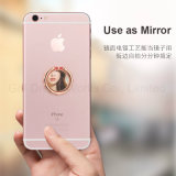 Sostenedor lindo y rosado del anillo para el teléfono celular con la función del espejo
