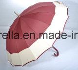 Красивый зонтик для датчика дождя и высокое качество прямой зонтик, резиновую рукоятку