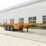 3 essieux 40-70t choisissent la remorque de camion de cargaison de conteneur de tube