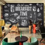 Pinturas murais autoadesivas da parede do restaurante do papel de parede da etiqueta para o papel de parede da foto do restaurante
