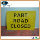Kundenspezifisches Drucken-Verkehrs-Schwingen-Warnzeichen mit galvanisierter oder Puder-Beschichtung