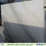 De natuurlijke Plakken van Guangxi van de Steen Witte Marmeren met Beige Aders