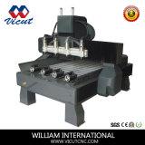 4 cabeças de corte CNC rotativo gravura de madeira/Roteador VCT-1513Máquina fr-4h
