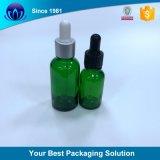 El aceite de oliva de vidrio al por mayor de las botellas de vidrio verde 30ml botella de aceite esencial