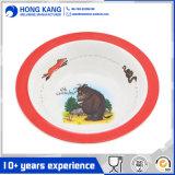 Los niños de melamina redonda tazón de la cena con Logo