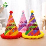 Sombrero barato del sombrero de la Navidad de las telas/de la fiesta de cumpleaños para Childern y el adulto