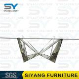 Möbel-Edelstahl-Tisch-Glasspeisetisch für 6 Seater
