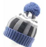 Шлем теплых Beanies зимы крышки POM шарика Mens женщин Unisex неоновый дневной связанный POM толщиной (HW116)