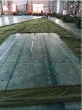 Resistente al agua verde del ejército de poliéster y algodón tela cubierta de barco
