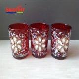 Candela di vetro Premium del vaso con il fiore Lacker
