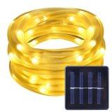 12m는 100개의 LEDs 태양 에너지 밧줄 관 지구 빛, IP68 옥외를 위한 옥외 밧줄 빛을 방수 처리한다
