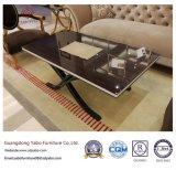 Самомоднейшая мебель гостиницы с журнальным столом лоббиа полируя (YB-F-002)