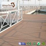 Suelo al aire libre plástico de madera compuesto del Decking WPC de China