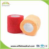 Fasciatura coesiva personalizzata medica dell'involucro di 4.5m x di 5cm