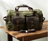 革キャンバス夜通し旅行週末の戦闘状況表示板のDuffelの荷物袋