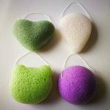 Esponja de Konjac orgânicos personalizado para banho e esponja de limpeza Facial