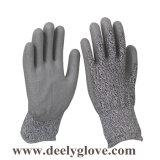 Лучшая цена разрез на уровне 3 черный провод фиолетового цвета для рук покрытие серого цвета Hppe гильзы Защитные перчатки 4342 утилита