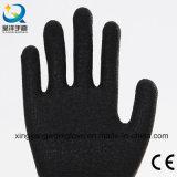 7つのゲージのおむつのアクリルはさみ金の上塗を施してある乳液の冬の安全手袋(L010)