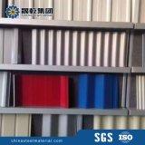 Panneaux en acier ondulé couché couleur