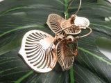 Fashion De Vorm van het Blad van het Koper van de Tegenhanger van juwelen nam Gouden Geplateerde Oorring toe