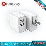 マルチUSBの充電器EU私達プラグ5V 2.4A 3.4A ULのセリウムFCCの承認の電話充電器