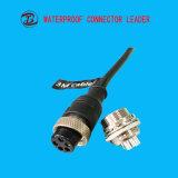 電気プラグの防水男性の中間の標準5 Pinの電源コネクタ