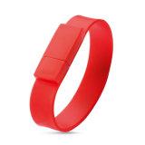 Vara da memória do USB do bracelete do silicone com logotipo personalizado