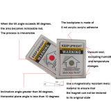 Moniror Aufkleber-Neigung-Anzeiger-Kennsatz für Versandbehälter stürzen