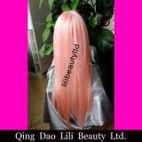 Parrucche piene all'ingrosso del merletto dei capelli umani per le donne di colore, capelli liberi di colore rosa dei capelli umani della parrucca del merletto