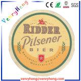 Personnalisé Papier de la bière d'impression pleine couleur coaster pour les cadeaux