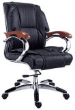 会議のための回転式高い背皮の椅子