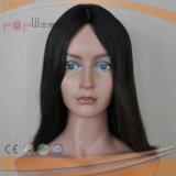 Cheveux humains Haut de la soie Sheitel perruque juive (PPG-L-0403)