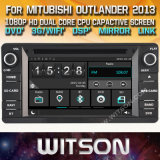 Tela de Toque do Windows Witson aluguer de DVD para Mitubishi Outlander 2013
