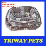 뼈에 의하여 인쇄되는 작풍 개 고양이 애완 동물 침대 (WY161049-1A/B)