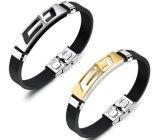 人の女性のステンレス鋼の涼しい人の宝石類のギフトのための新しい金および銀カラー十字のブレスレット