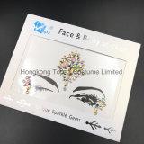 2018 Bling Glitter piel ojos Sticker adhesivo acrílico cristal gema pegatinas cara Diamante (E43).