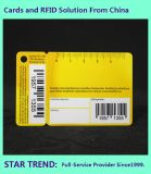 Het Gemaakte Plastiek van het pakhuis Kaart met Streepjescode plus Één Zeer belangrijke Kaart