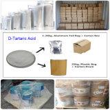 Здоровое питание привыкание D-Tartaric кислоты: CAS 147-71-7 Cryctals белого цвета