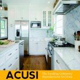 Gabinete de cozinha americano por atacado da madeira contínua do estilo do abanador (ACS2-W06)