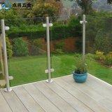 Pasamano de cristal al por mayor del acero inoxidable del diseño simple para el balcón